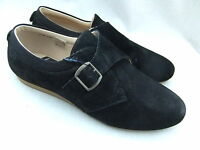 NEW FRED PERRY B1102W YOUNG WOMENS BLACK SUEDE SHOES