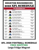 2020 Houston Roughnecks XFL Team Football Schedule