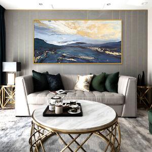 """HH557 Modern Decor art 48"""" Hand-painted oil painting Golden Cloud sea Unframed"""