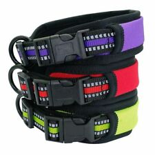 Soft Padded Reflective Dogs Collar Adjustable Quick Release Wide And Comfortable