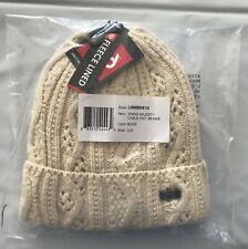 2020 NWT 686 Womens Majesty Cable Knit Beanie OS Bone Snowboard m413