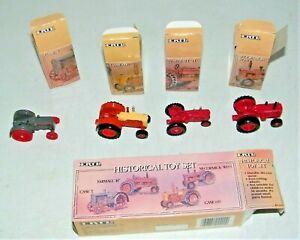 ERTL Historical Toy 4 Pc. 1/64 Diecast Case L, Farmall H,Case 600,McCormick WD-9
