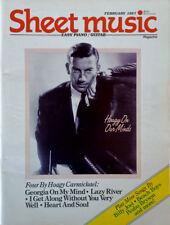 SHEET MUSIC MAGAZINE - HOAGY CARMICHAEL COVER STORY - FEBRUARY 1987