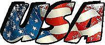 "USA Sticker / Decal size 6"" long for car, truck, van, laptop, walls etc,"