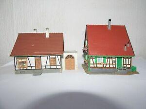 HO 00 OO gauge Job Lot 2 Tudor style buildings House bungalow shops  Kibri