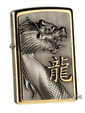 GOLDEN DRAGON Gewaltiges Emblem-ZIPPO neu+ovp Gold Dust
