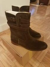 Bussola sz 12 EU 42NEW Sevilla ebony (dark brown)Suede Anthropologie Biker Boots