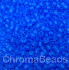 50g perline di vetro Blu Acceso Satinato approssimativamente 3mm taglia 8/0