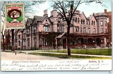 "Buffalo, New York Postcard ""Millard Fillmore Residence"" Street View 1911 Cancel"