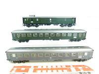 BT90-1# 3x Märklin H0/AC Riviera Express-Wagen (aus Set 42941) NEM KK beleuchtet