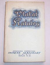 Plakat Katalog Jacques Albachary Berlin um 1920 - 1930 original & selten !