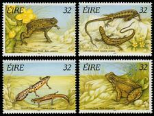 ✔️ IRELAND 1995 - FAUNA REPTILES FROGS - MI. 909/912 ** MNH