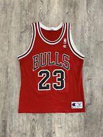 Vintage Champion Chicago Bulls Michael Jordan Jersey Sz 40 M NBA Basketball 90s