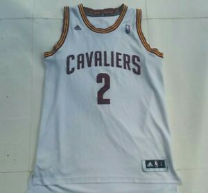 Kyrie Irving Addias Cleveland Cavaliers Home White Jersey Size L