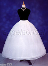3 HOOP BRIDAL WEDDING DRESS GOWN COSPLAY COSTUME PETTICOAT CRINOLINE SKIRT SLIP