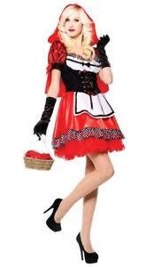 Red Riding Hood Sweetie Adult Sexy Costume Fairytale Fancy Dress Size: S-M