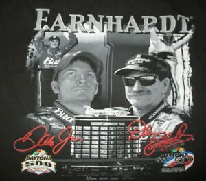 1998 DALE EARNHARDT & 2004 DALE EARNHARDT Jr DAYTONA 500 Champions (LG) T-Shirt