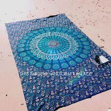 Double Tenture Mural Indien Hippie Tapisserie Mandala Couvre-Lit Bohème