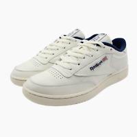 Para Hombre Reebok Classic Leather Ondulación Clip Entrenadores Blanco CN5879