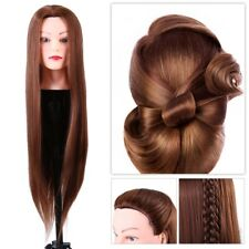 Synthetic Fiber Mannequin Head Hairdresser Training Head Cosmetology Doll Head