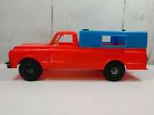 PROCESSED PLASTIC CO. - GMC C-10 FLEETSIDE PICKUP TRUCK WITH CAP Red/blue A8