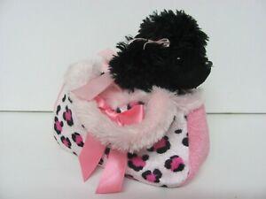 Aurora World Mini Flopsie Fifi Black Poodle in Carrier Bag