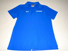 New UA Under Armour Womens Athletic Bright Blue Stretch Golfing Polo Shirt Large