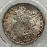* 1896 $1 Morgan Dollar Gem BU + MS66 PCGS * Stunning Monster Tone*