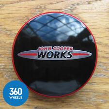 1 x NEW GENUINE ORIGINAL MINI JCW CENTRE CAP HUB BADGE JOHN COOPER WORKS F56
