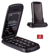 Ttfone Star Big Button Flip Pre Pay Payg Vodafone Grey with Credit