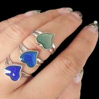 Magic Changing Color Feeling Mood Ring Heart Shaped Temperature Emotion Control