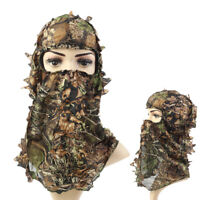 Woodland Camo 3D Camouflage Leaf Balaclava Ghillie Suits Face Mask Hunting Hats