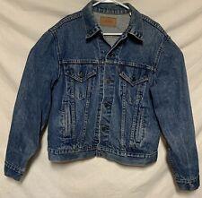 Vintage Levis Denim Jean Jacket Size 44 Trucker Western 70506-0216 Red Tab