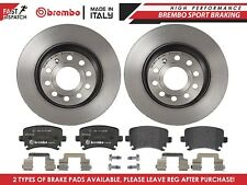 REAR AXLE 282mm BREMBO BRAKE DISCS PAIR SOLID TYPE HIGH-CARBON PADS PAD SET