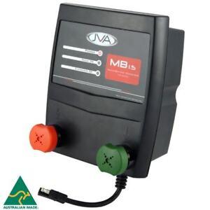 JVA MB1.5 Mains Electric Fence Energizer (Mains/Battery) - 2J, 15km