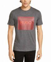 Hugo Boss Mens Shirt Gray Size Large L Graphic Tee Box Logo Crew $68 #028