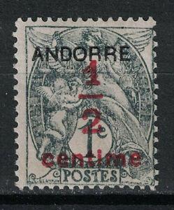 FRENCH ANDORRA:1931 SC#P1 Mint OG Overprinted m392