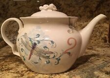 NEW LENOX AMERICAN DESIGN HARMONY BUTTERFLY FLORAL COLLAGE TEAPOT & LID 48oz