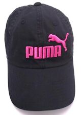 PUMA black and pink adjustable cap / hat - 100% cotton