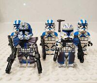 Star Wars Captain Rex Jesse 501st Clone Troopers 5 Minifigures Lot - USA SELLER