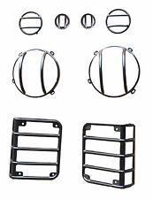 Head Tail Light Guard Set for Jeep Wrangler 07-16 JK Unlimited Steel Matte Black