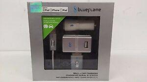 BlueFlame The Plug + Spark Plug Home & Car Charging Kit for Ipad, Iphone