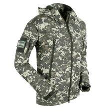 Mens' Softshell Military Tactical Jacket Waterproof Shark Camouflage Hooded Coat