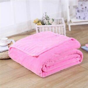 Coral Fleece Blankets Soft Warm Fluffy Flannel Sofa Mink Throw Plaid Covers