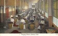 Postcard Stripping Tobacco in Havana, Cuba~117035