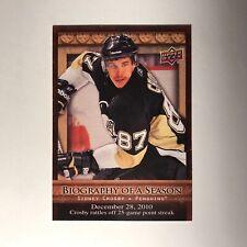 2010 11 Upper Deck Biography Of A Season Sidney Crosby