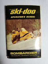 1968 Bombardier Ski-Doo Snowmobile Owners Operators Manual English & French Nr