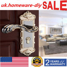 Security Door Handle Lock - Continental Antique Gold, Lever Lock, Latch, w/ Keys
