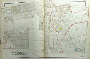 1929 DELAWARE COUNTY PA RIDLEY, SPRINGFIELD, MORTON BOROUGHS KLINGE ATLAS MAP