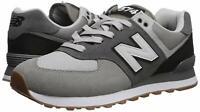 New Balance Men's Iconic 574 Sneaker, Marblehead/Black, Size 4.0